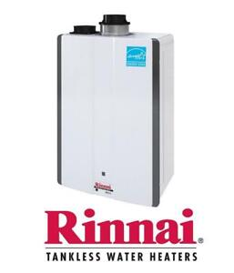 Rent To Own - Super High Efficiency Rinnai Tankless Water Heater - $0 Down - FREE Installation