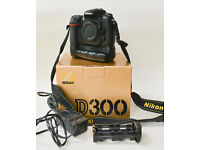 Nikon D300 with third party battery grip.
