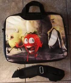 COMIC FRUIT PATERN - DECRATIVE 15.6 LAPTOP SLEEVE CASE BAG WITH SHOULDER STRAP