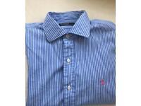 Ralph Lauren Smart shirt Large Blue and white stripe