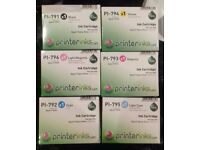 Set of 7 Epsom Stylus Photo 1400/1400 Printer Ink Cartridges