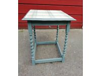 Vintage shabby chic side table hand painted finish