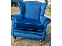 Wingback/fireside/arm chair newly professionally reupholstered