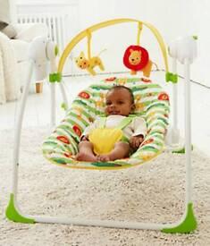 Baby safari swing chair