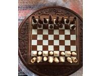 Wooden Hand Carved Chess Game