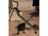 Pro fitness folding exercise bike