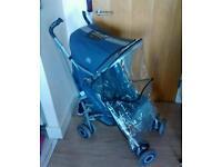 Maclaren Techno XT Pushchair with raincover and newborn bundle