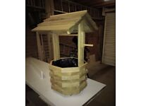 hand made wooden wishing well