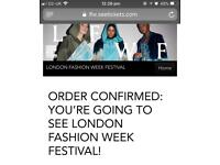 Two London fashion week festival tickets
