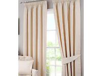 Pencil pleat curtains x 2 pairs