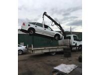 Scrap car removal, hiab lift needed for removal