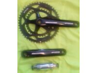 FSA Vero compact chainset, 10/11 speed, 175mm arm length, square taper with bottom bracket