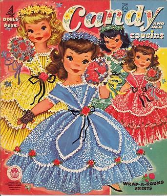 VINTAGE 1961 CANDY COUSINS PAPER DOLLS ~ CUTE LASER REPRODUCTION~Orig SIZE UNCUT