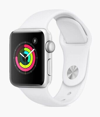 Apple Watch Series 3 GPS 42mm Silver Aluminium Case Sport Band White