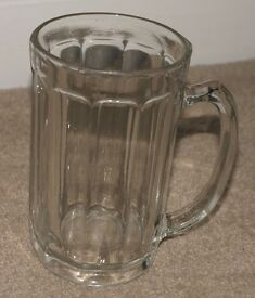 Vintage 10-sided pub pint glass etched GR170 (Pre-1952)