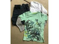Boys Small Clothes Bundle - Tops and Shorts, Age 9 - 10. NEXT, Bluezoo, Fruit of the Loom