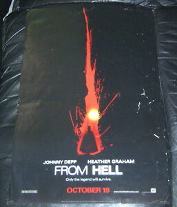 RARE FROM HELL (2001) ADVANCE MOVIE POSTER with JOHNNY DEPP