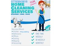 Domestic cleaners/ dog walker /end of tenancy / deep claening / carpet cleaning