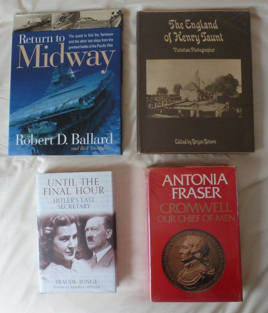 4 non fiction books on various historical subjets cromwell