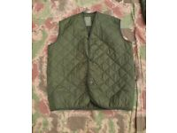 Vintage British Army Quilted Cold Weather Field Jacket Liner (bodywarmer) Size2