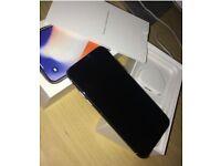 Silver iPhone X 64gb unlocked in box like new