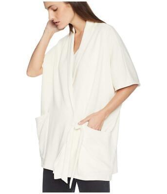 New with Tag-$268 Eileen Fisher Organic Cotton Blend Wrap Kimono Jacket Size S/M