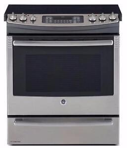 Cuisinière GE Profile électrique encastrable, 30po, autonettoyante, à convection, tiroir de cuisson, stainless SKU: 1103