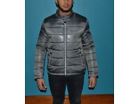 Grey Padded Moncler Coat XL