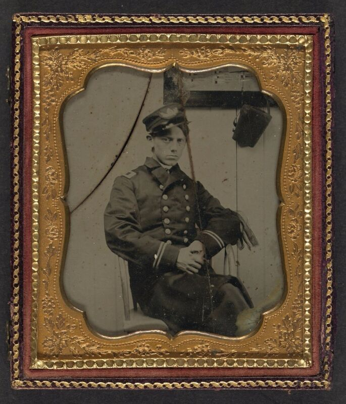 Photo Civil War Union Sailor In Naval Officer
