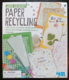 Green Creativity 'Paper Recycling' Set (new)
