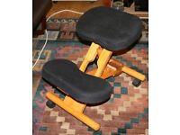 Posture Wooden Kneeler Chair Stool.