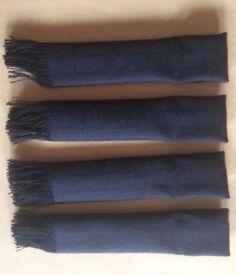 BRAND NEW Black Plaid Tartan (Dark Isle) Wool Kilt Flashes