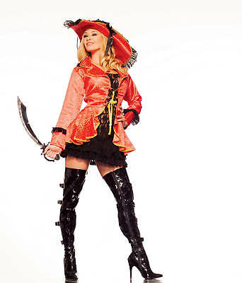 Sexy Adult Halloween Island Pirate Buccaneer Costume](Fantasy Island Halloween)