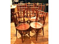 WOODEN CAFE STYLE CHAIRS, 10 OR MORE AVAILABLE