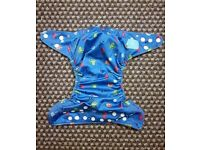 Charlie Banana One Size Cloth Nappy with 2 inserts | UNDER THE SEA | £22 | GREAT COND | Rawmarsh