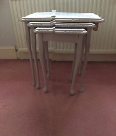 Nest of tables up cycled using Annie Sloan paint