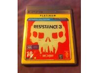 Resistance 3 - Platinum - PS3 boxed, with manual