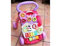 Vtech FIRST STEP BABY WALKER [ Dark Pink ]