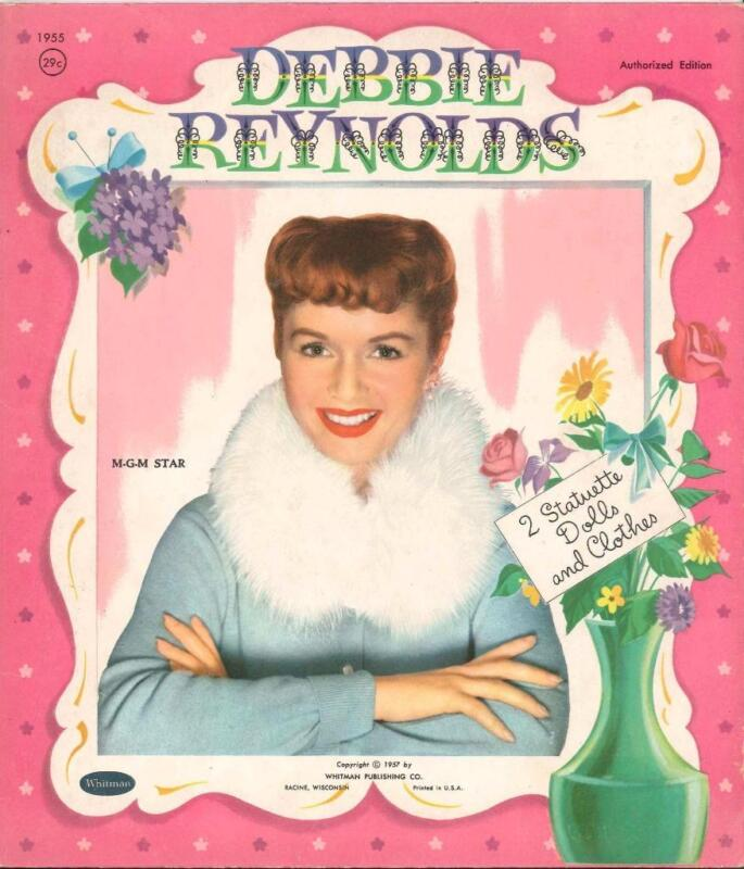 VINTAGE UNCUT 1957 DEBBIE REYNOLDS PAPER DOLLS ~HD LASER REPRODUCTION~LO PR~HI
