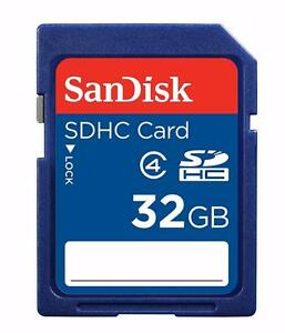 SanDisk 32GB SDHC Flash Memory Card -Class 4