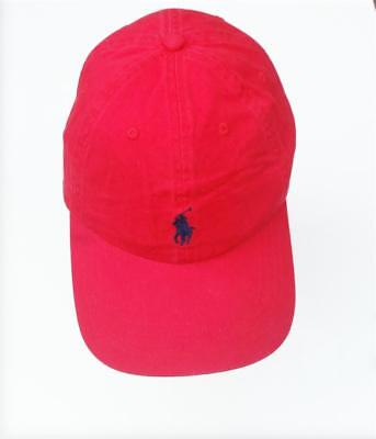 ralph lauren polo youths cotton chino baseball cap red hat new clearance 6-14 ys Chino Youth Cap