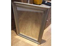Large wall mirror with decorative silver surround - excellent condition