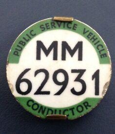 Public Service Vehicle Conductor Badge