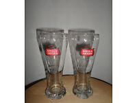 STELLA ARTOIS TALL PINT GLASSES X 2