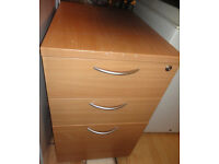 GOOD STURDY CONDITION, A NICE HEAVY WOOD EFFECT FILING CABINET