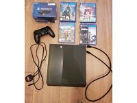 Play Station 4 1TB with games, DualShock and Play Station tv/ excellent condition