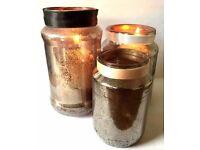 Decorative Jars (47)for Weddings & Parties Antique Mercury Glass effect