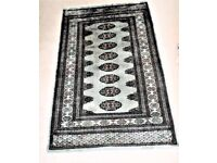 BEAUTIFUL- 25 YEAR OLD - GENUINE - PAKISTAN HAND KNOTTED BOKHARA RUG