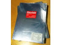 PVC A4 binding covers. Clear, 240mic. 2 packs of 100 sheets. collection only