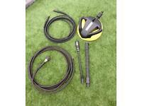 Genuine Karcher pressure washer accessory bundle for car , deck , patio , garden inc 10m hose